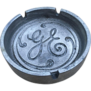 Pewter General Electric Advertising Ashtray