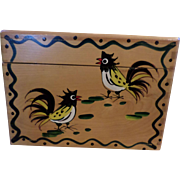 Wood Pecker Woodware Rooster Recipe Box