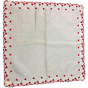 Switzerland Valentine Heart Hankie