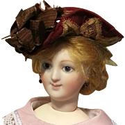 "Charming Doll Bonnet, Made From All Old Materials, for 5-7"" Head"