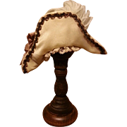 "Charming Bicorn Silk French Fashion Bonnet for 5-6"" Head"