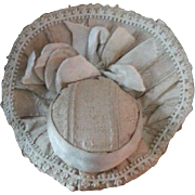 Stunning French Fashion Bonnet ~ Lovely Neutral Silks! - Red Tag Sale Item