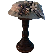 Lovely Silk Faille Bonnet for French Fashion