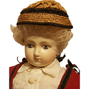 Stunning Straw Chapeau, Antique Materials, in the Huret Manner ~ Artist Made