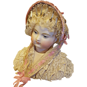 Pretty Fanchon Style Bonnet, In the Huret Manner, Artist-Made