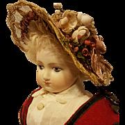 Pretty Straw Bonnet, In the Huret Manner, Artist-Made
