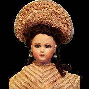 Splendid Aqua Silk Bebe Bonnet ~ Artist Made