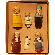 Charming All-Bisque Family in Original Box!