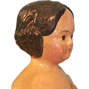 Wonderful Papier Mache Doll, Wooden Milliner's Body, Good Condition