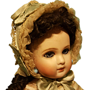Lovely Silk & Lace Bebe Bonnet ~ Artist Made