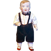 "Adorable 5"" All-Bisque German Boy"