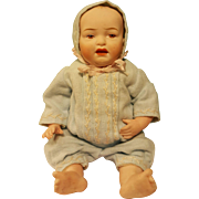 """Darling All-Bisque German Baby, Possibly Kestner, 8"""" Tall"""