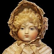 Beautiful Fanchon Style French Fashion Bonnet, Antique Replica, Artist Made