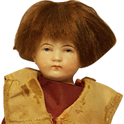 Cute All-Bisque German Boy with Original Clothing & Wig