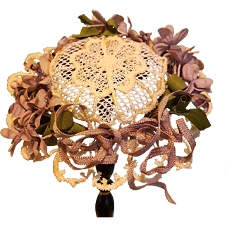 Pretty Lacy Summer Garden Hat for French Fashion, Artist Made