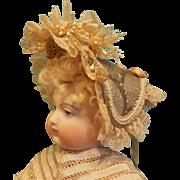 Gorgeous Fanchon Style Bonnet in the Huret Manner, Artist Made, All Antique/Vintage Materials
