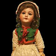 "Darling 14"" SFBJ 301 Bisque  Head Doll in Provincial Costume!"