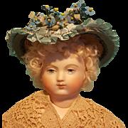 Delightful French Fashion Garden Bonnet, Antique & Vintage Materials, Artist-Made OOAK