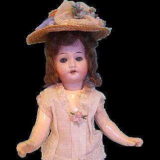 """Antique Bisque Head Herm Steiner Doll, Original Chemise, 10"""" Tall"""