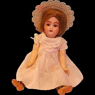 """Antique 9"""" K*R Bisque Head Doll"""