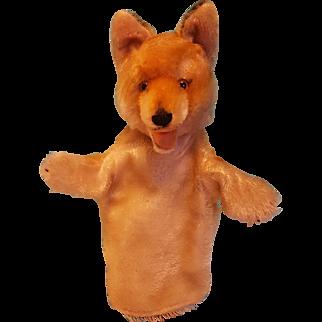 Great Vintage Mohair Steiff Fox Puppet