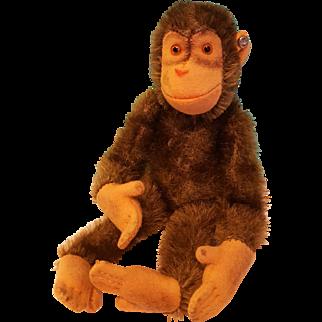 Darling Diminutive Steiff Monkey, Vintage!
