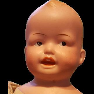 Charming Ernest Heubach Painted Eye Shoulderhead Antique Doll