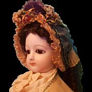 Wonderful Silk & Lace Bonnet for Large Fashion or Bebe