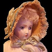 Lovely Straw Doll Bonnet - Artist-Made