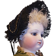 Wonderful French Fashion Winter Bonnet, In The Huret Manner ~ Artist-Made