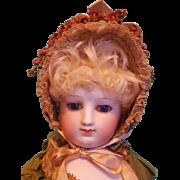 Lovely Straw Fanchon Bonnet in the Huret Manner ~ Artist-Made