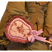 French Fashion Fan, Antique Silk Brocade,  Artist-Made