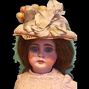 Silk Doll Bonnet for Larger Doll, Artist-Made
