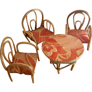 Vintage Bentwood Dollhouse Furniture