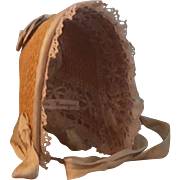 "Vintage Straw Bonnet for 6.5-7"" Head ~ Artist-Made"