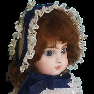 """Vintage Straw Bebe Bonnet 7-8""""~ Artist-Made"""