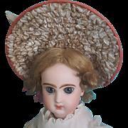 "Coral Silk Bebe Bonnet, 7-8"" Head ~ Artist-Made"