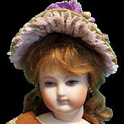 """Straw Bonnet for 5-6"""" Doll Head ~ Artist-Made, Avant-Garde!"""