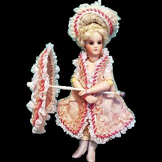 """Dress, Bonnet and Parasol for 6"""" Mignonette ~ Artist-Made, Cherie's Petite Boutique"""