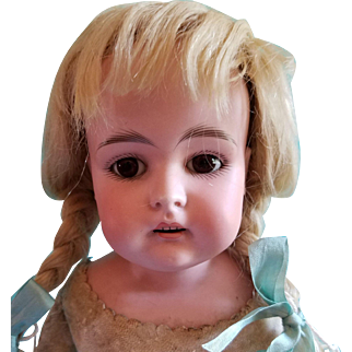 """Darling Kestner with Square Teeth, 18"""" Tall, Marked """"7"""""""