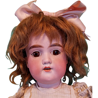 Sweet AM Floradora Bisque German Doll, Antique Clothing , Boo-Boo Bargain