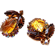 DeLizza and Elster Autumn clip earrings