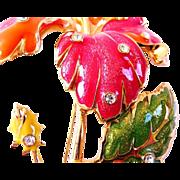JOSE BARRERA AVON Fashion Flowers brooch and earrings