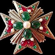 Weiss Maltese cross brooch brooch pin pendant