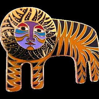 Laurel Burch Tigre pin brooch signed