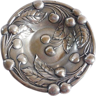 Mauser Arts & Crafts sterling bowl cherries