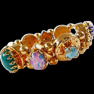 Vintage Harrice Miller Victorian Revival slide style bracelet