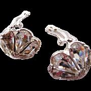 Bellini crystal rhinestone clip earrings