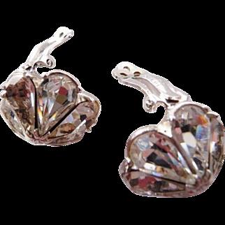 Vintage Bellini crystal rhinestone earrings