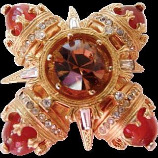 Benedikt NY Maltese cross pin brooch pendant
